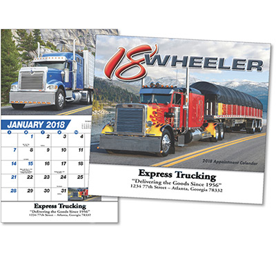 promotional 18-wheeler wall calendar 2018