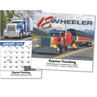 18-Wheeler Wall Calendar