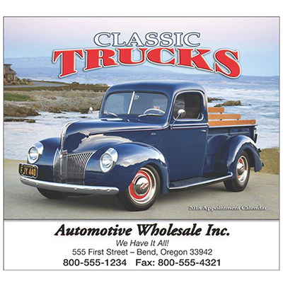 promotional classic trucks wall calendar 2018