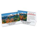 Custom Scenic Desk Tent Wall Calendar - Scenic Desk Tent Wall Calendar