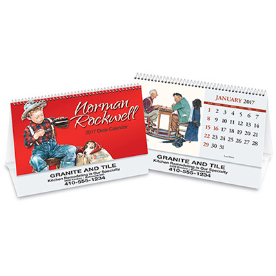 personalized Rockwell desk tent calendar 2017