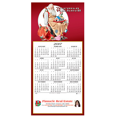 Norman Rockwell Calendar Greeting Card