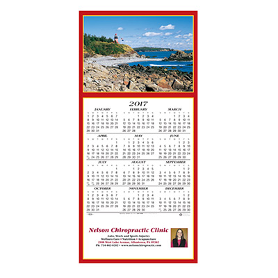 Scenic Lighthouse Calendar Greeting Card