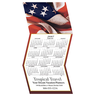 American Flag Calendar Greeting Card