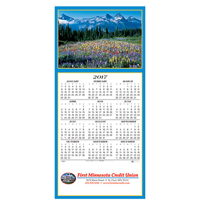 Scenic Vista Calendar Greeting Card