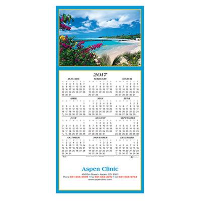 Idyllic Destination Calendar Greeting Card