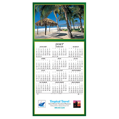 Tropical Escape Calendar Greeting Card