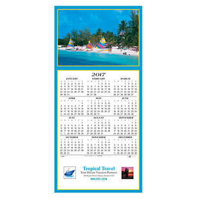 Tropical Getaway Calendar Greeting Card