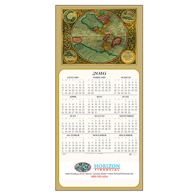Colorful World Calendar Greeting Card