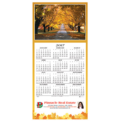 Country Road Calendar Greeting Card