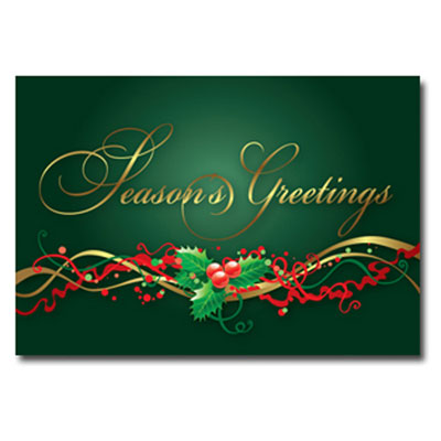 holly time - holiday greeting card