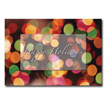 Promo Holiday Greeting Card - Holiday Lights (Colored dots)