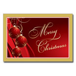 Bulk Holiday Greeting Card - Gilded Ornaments