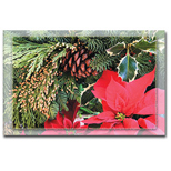 Custom Poinsettia Holiday Greeting Card