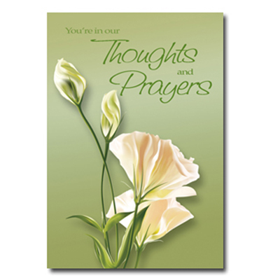 You're in our Thoughts Greeting Card