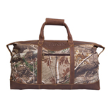 Personalized Leather Duffle Bag - RealtreeTM Camo Duffel