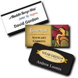 "Custom Plastic Name Badge - Phoenix Name Badge 1 1/2"" x 3"" Plastic"