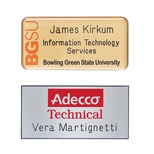 "Promotional Engraved Name Badges - Hollywood Name Badge 1 1/2"" x 3"" Plastic"