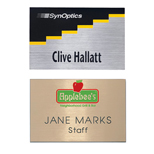 "Personalized Engraved Name Badges - Hollywood Name Badge 2"" x 3"" Plastic"