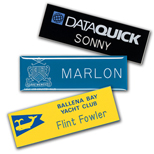 "Promotional Engraved Name Badges - Chicago Name Badge 1"" x 3"" Plastic"