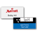 "Customized Engraved Name Badges - Chicago Name Badge 1 1/2"" x 3"" Plastic"