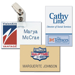 "Engraved Name Badges with logo - Chicago Name Badge 2"" x 3"" Plastic"