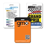 "Customized event name badge - Cutsom Nashville Event Badge 3 3/8"" x 2 1/8"" horiz."