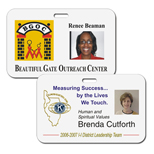 "Personalized photo name badges - Washington 3 3/8"" x 2.1/8"" horz"