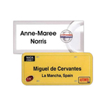 "Plastic Name Badge with logo - Dallas 1 1/2"" x 3""  Plastic"