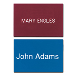 "Personalized Plastic Engraved Name Badges - Los Angeles Badge 2"" x 3"" Plastic"