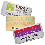"Customized Metal Name Badges - Savannah Badge 1 1/2"" x 3"" Metal"