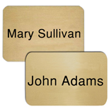 "Metal Name Badges with Logo - Los Angeles Badge 2"" x 3"" Metal"