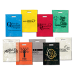 "Promotional Colored Plastic Bags - Take Home Bags - 9"" x 13"""