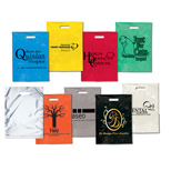 "Customized Colored Plastic Bags - Grab Bag (die cut) - 11"" x 15"""