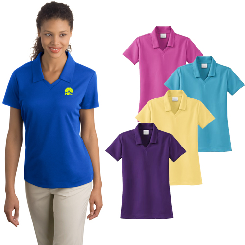 586dfff8 Custom Nike Ladies Dri-Fit Micro Pique Polo shirts with your logo imprinted