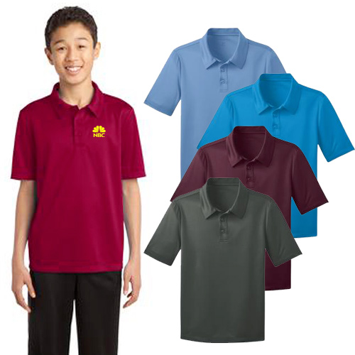 port authority® youth silk touch™ performance polo