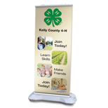 Personalized Banner Stands - Premium Banner Stands 44x87 Outdoor weighted