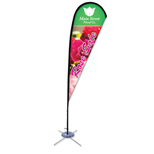 "Imprinted Flags - Promotional Flags 8"" Tear Drop Flag"