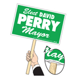Customized Rally Signs - Rally Signs With Handle 12 1/4 X 19 1/4