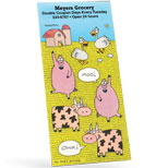 Bumper Stickers Wholesale, Rectangle Farm Animal Stickers