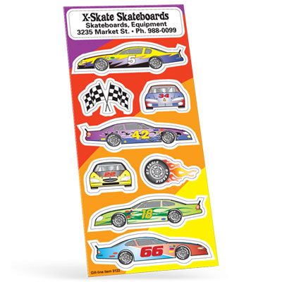Race Car Sticker Sheet
