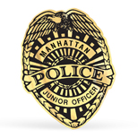 Custom Roll Labels, Police Badge Printed Roll Label