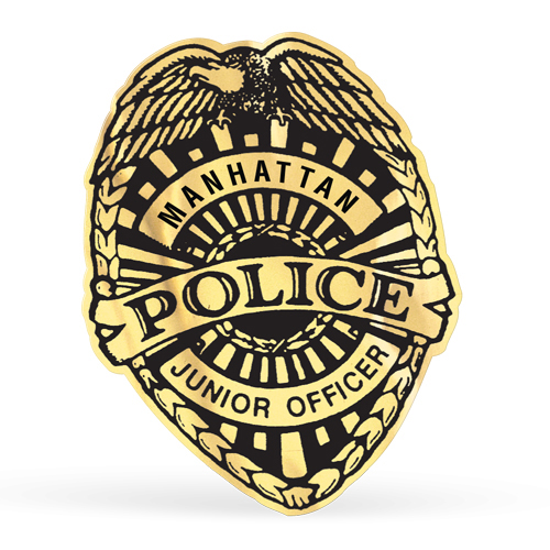 Police Badge Roll Label