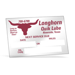 Promotional Service Due Static Cling