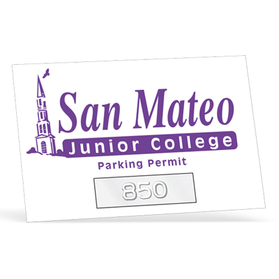 A1 Parking Permit Sticker
