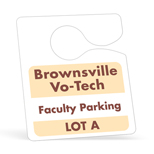 Personalized Parking Permit Stickers - Hanging Parking Permits without Numbering