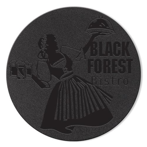 Leather Coasters - Black