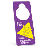 Customized Door Knob Hangers - Hangers - one side .010 point
