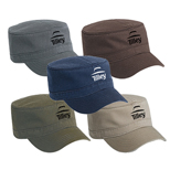Wholesale Military Style Caps - Superior Garment Washed Cotton Twill Military Style Caps