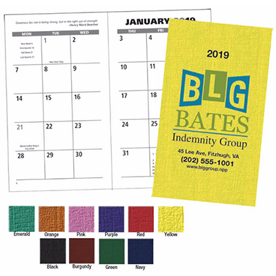 Personalized value monthly pocket planners 2018
